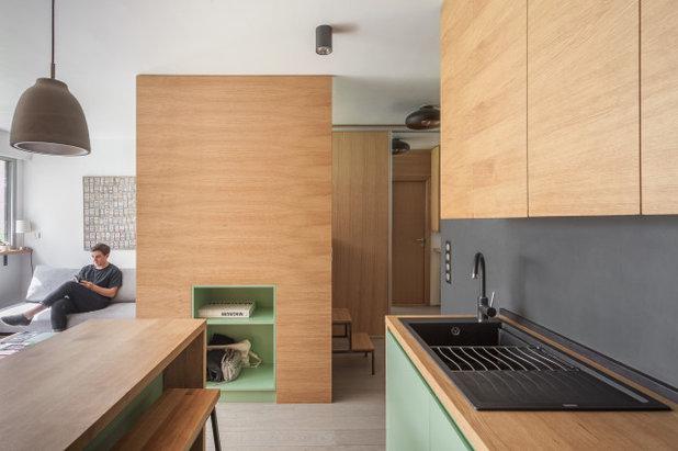 Скандинавский Кухня by ARCHITECT + DESIGNER