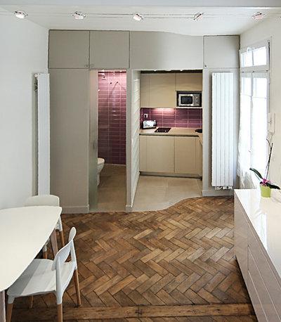 am nager un petit espace zoom sur trois studios de moins de 20 m. Black Bedroom Furniture Sets. Home Design Ideas
