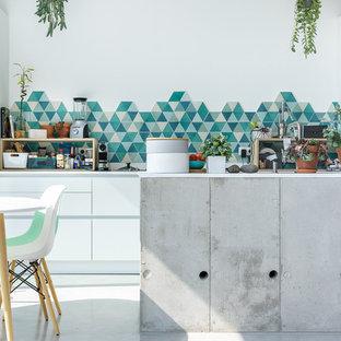 Idée de décoration pour une cuisine marine.