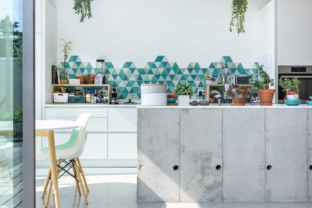 ビーチスタイル キッチン TANGUY M. architecte, maison aux Volets, Rennes, 35