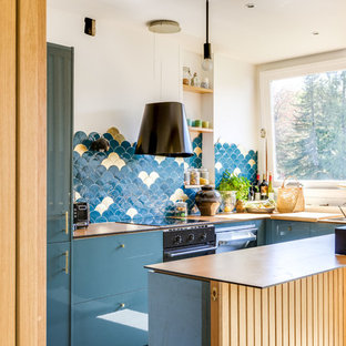 Small Contemporary Enclosed Kitchen Pictures   Enclosed Kitchen   Small  Contemporary U Shaped Enclosed Kitchen