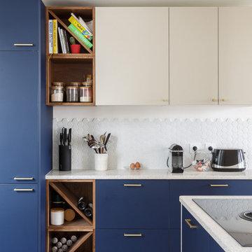 Un appartement qui met à l'honneur le bleu