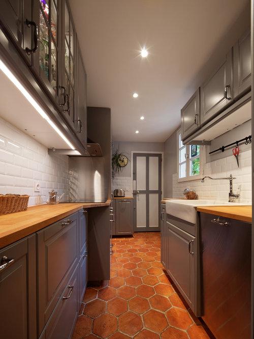terracotta kitchen floor transitional - photo #46