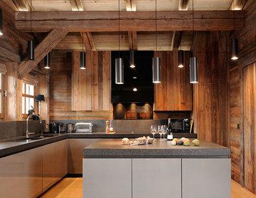 Une cuisine contemporaine dans le Chalet L