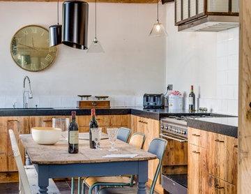 Une cuisine éclectique - coin suspension