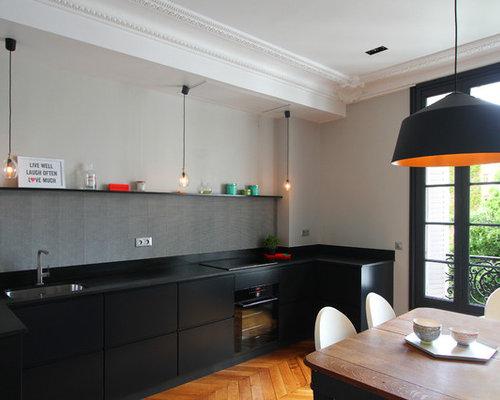 Une cuisine familiale graphique et vive avec une petite for Petite cuisine retro