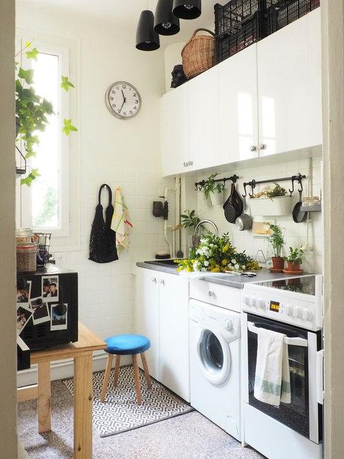 k chen mit terrazzo boden ideen design bilder houzz. Black Bedroom Furniture Sets. Home Design Ideas