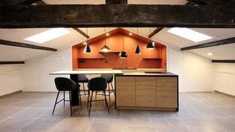 Une cuisine sous les toits
