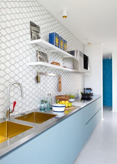 10 id es d co pour optimiser une cuisine lin aire for Deco de cuisine en longueur