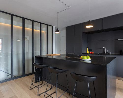 cuisine avec un plan de travail en granite : photos et idées déco ... - Cuisine Avec Plan De Travail En Granit
