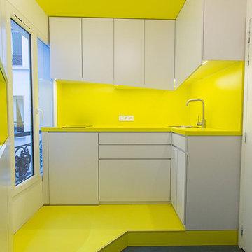Yellow bubmarine / Un appartement d'amateurs d'art