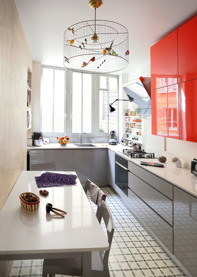 Contemporaneo Cucina by Julie Nabucet Architectures