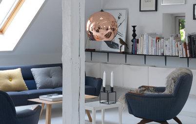 8 smarte løsninger til stuer med skrå vægge