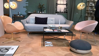 Hexparket in Danish Living Room on London Design Fair 2018