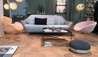 Hexparket in Danish Living Room on London Design Fair 2018