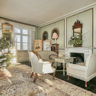 Inspiration for a timeless living room remodel in Other