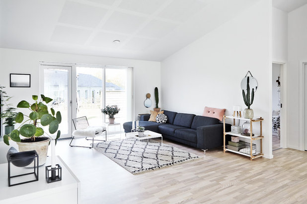 Scandinavian Living Room by Mia Mortensen Photography