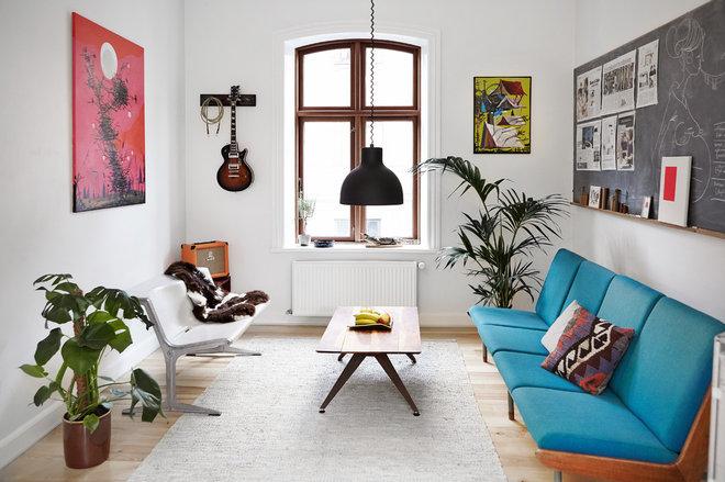 Modern Vardagsrum by Mia Mortensen Photography