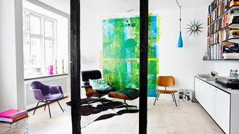 Interior - stor skænk formica laminat og sort mdf