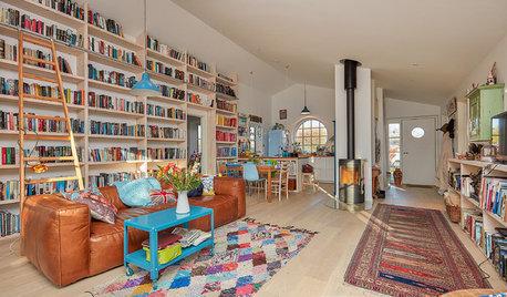 Houzz Tour: Deckarförfattarens drömhem har böcker även i köket