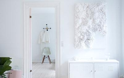 Houzz Tour: Stylistens hem är vitt, vitt, vitt – och lite rosa
