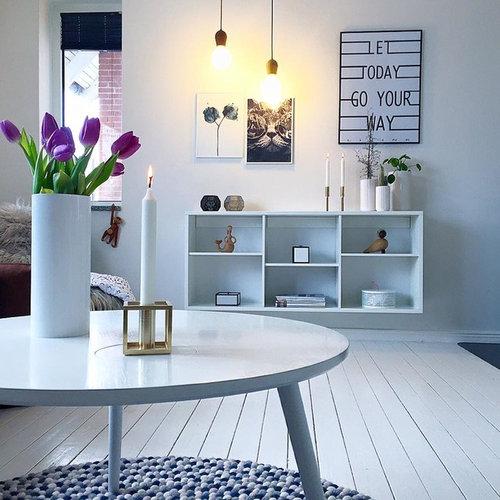 photos et id es d co de pi ces vivre scandinaves bleues. Black Bedroom Furniture Sets. Home Design Ideas