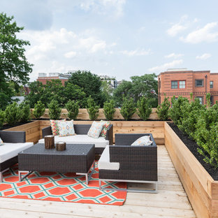 Deck container garden - contemporary rooftop rooftop deck container garden idea in DC Metro with no cover