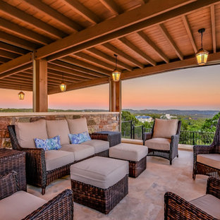 Example of a french country deck design in Austin