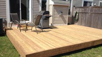 14' x 18' Wood Deck