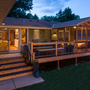 Elegant deck photo in Minneapolis with no cover