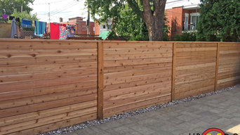 2-Level Western Red Cedar Deck and Fence