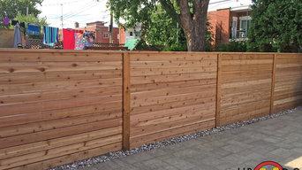 2-Level Western Red Cedar Deck and Fence