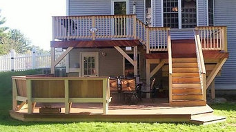 3 Tiered Mahogany Deck with built in benches