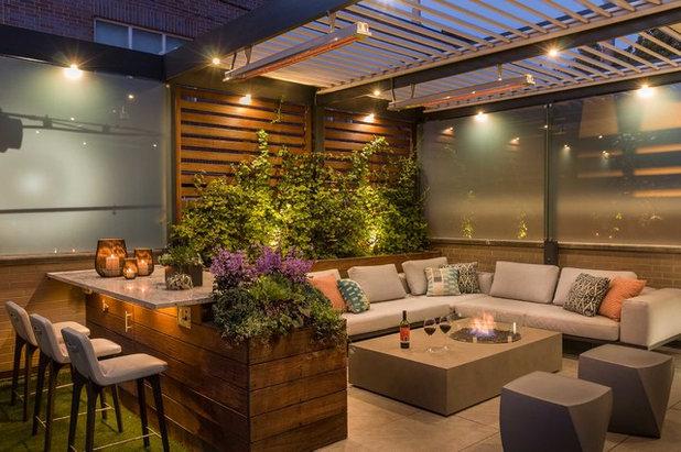 Modern Terrasse by Chicago Specialty Gardens, Inc.