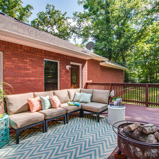 Deck - transitional backyard deck idea in Nashville with no cover