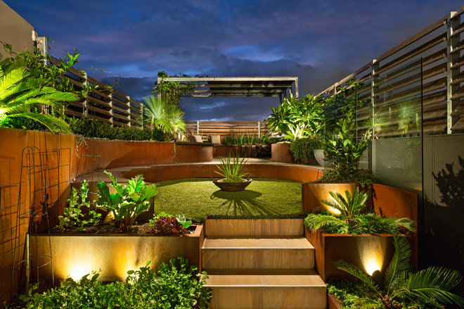 Contemporary Deck by Paal Grant Designs In Landscaping