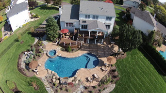 Amazing Trex Deck Design with Pool Patio in Eaglesville, Pa.