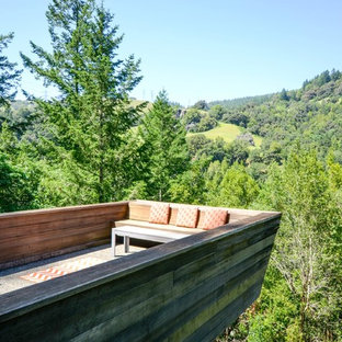 Deck - contemporary deck idea in San Francisco with no cover