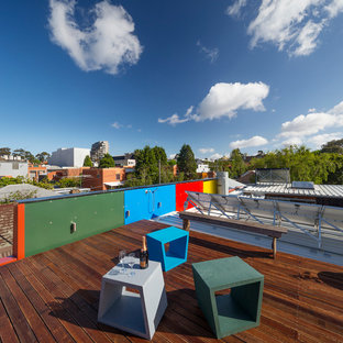 Inspiration for an industrial rooftop deck in Melbourne.