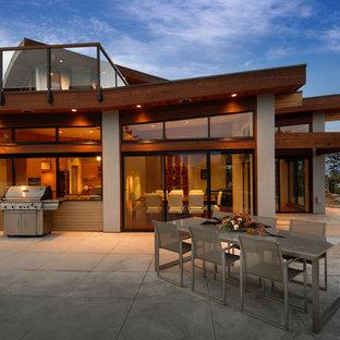 Idee per una terrazza contemporanea sul tetto e sul tetto