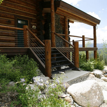 Authentic Rocky Mountain Log Cabin