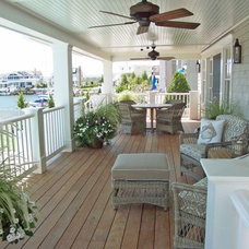 Beach Style Deck by Winfield Developers