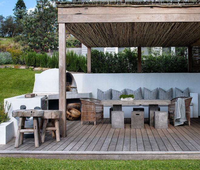 Beach Style Deck by Villa and Villa