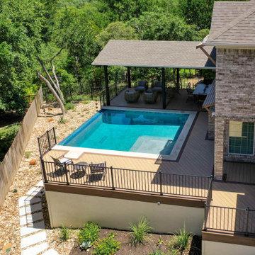 Award-Winning Pool Deck w/ Shade Cover in NW Austin