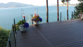 Azeck Deck with Glass railing in Skagit county