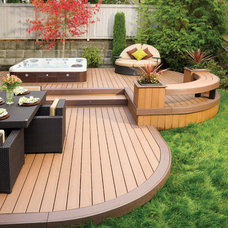 Contemporary Deck by AZEK