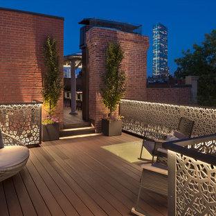 Deck - contemporary rooftop deck idea in Boston