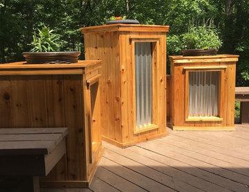 Backyard Cedar Planters