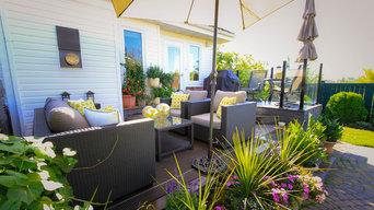 Backyard deck retreat