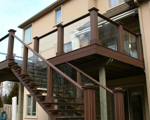 Second floor deck ideas houzz for Second floor deck ideas